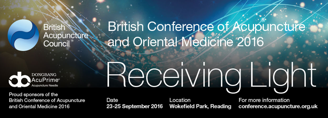 British Acupuncture Council 2016 Conference