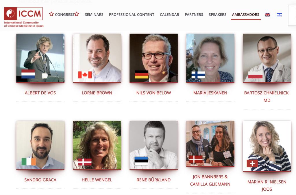 ICCM 2018 Ambassadors